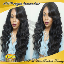 Deep Wave Malaysian Hair Virgin Human Hair Full Lace Wigs Glueless Full Lace Wig With Bangs